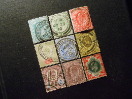 Mi 102A-104A/106A-108A/110A/111A/114A - King Edward Vll - 1902 - Mi 51,20 € - Marken Mit Perfin - Used Stamps
