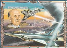 1986 Guinee Guinea Dassault Aviation Military Perf & IMPERF Non-Dentale 2 Souvenir Sheets   MNH - Guinée (1958-...)