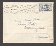 1934  Jacques Cartier 1,50fr  Seul Sur Lettre Pour Le Danemark - Storia Postale