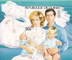 1985 Guinee Guinea Charles & Diana William & Harry Perf & IMPERF Non-Dentale 2 Souvenir Sheets   MNH - Guinée (1958-...)