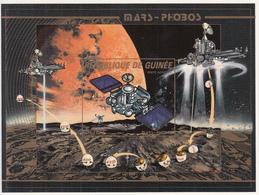 1988 Guinee Guinea Space Achievements Mars Phobus  Perf & IMPERF Non-Dentale 2 Souvenir Sheets   MNH - Guinée (1958-...)