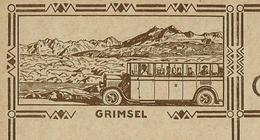 Carte Illustrée Neuve N° 119 - 006  GRIMSEL (car Postal)  (Zumstein 2009) - Entiers Postaux