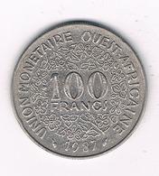 100 FRANCS 1987  AFRIKA -QUEST /2626// - Münzen
