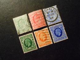 Mi 102A/104A/107A/175X/178X/179X - King Edward Vll. + Georg V. - 1902 - Mi 5,00 € - Used Stamps