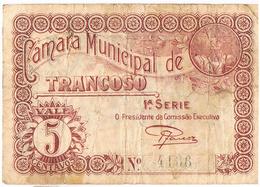 TRANCOSO - CÉDULA DE 5 CENTAVOS DA CÂMARA MUNICIPAL DE TRANCOSO- - Portugal