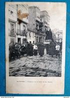 CPA - ESPAGNE - RARE !! - LA CORUNA - Procesion En La Calle De San Andres  - Belle Animation - La Coruña