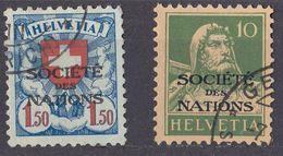 HELVETIA -  1922/1923 - Servizio, Lotto Di 2 Valori Usati: Yvert 18 E 59. - Servizio