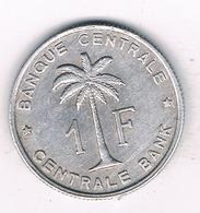 1 FRANC 1957  BELGISCH CONGO /2638/ - Belgisch-Kongo & Ruanda-Urundi