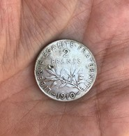 1 Piéce Argent 2 Francs Année 1910 -   9,8 Grammes - Frankreich
