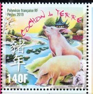 FRENCH POLYNESIA, 2019, MNH, YEAR OF PIG, CHINESE NEW YEAR, 1v - Nouvel An Chinois