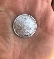 1 Piéce Argent 2 Francs Année 1904 -   10,1 Grammes - France