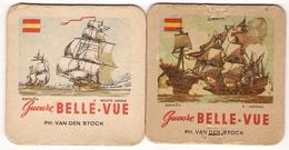 Bierviltje - Gueuze BELLE VUE - Zeilboten - Espana - Santa Maria + Medina - PH. VAN DEN STOCK - Sous-bocks