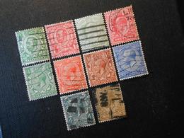 Mi 121llX/124llX/103A/104A/154X/155X/156X/158X/160X/165X - King Georg V. - 1902/24 - Used Stamps