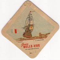 Bierviltje - Gueuze BELLE VUE - Zeilboten - FRANCE - La Renommee - PH. VAN DEN STOCK - Sous-bocks
