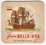 Bierviltje - Gueuze BELLE VUE - Zeilboten - HOLLAND - FLUIT - PH. VAN DEN STOCK - Sous-bocks