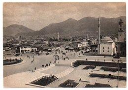 ALBANIE/ALBANIA - TIRANA/TIRANE PIAZZA SCANDERBEG / MOSQUE / ANNULLO POSTA MILITARE 1941 - Albania