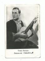 Chanteur Tino Rossi Et Sa Guitare - Liste Des Oeuvres Au Recto - Exclusivité Columbia  - Format 9 Cm /6 Cm - Andere
