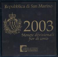 SAN MARINO COFFRET BU 2003 9 MONNAIES AVEC JAQUETTE - Monaco