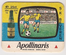 Bierviltje - Apollinaris - S.K. BEVEREN - Sous-bocks