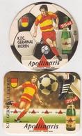 Bierviltje - Apollinaris - K.F.C. GERMINAL EKEREN - 1993 + 1996 - Sous-bocks