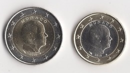 ** RARE 2 EUROS + 1 EURO  MONACO 2018 /  PEU CIRCULEES / TTB  ** - Monaco