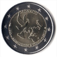 ** 2 EUROS COMMEMORATIVE MONACO 2013 LEGEREMENT CIRCULEE TRANCHE A  ** - Monaco