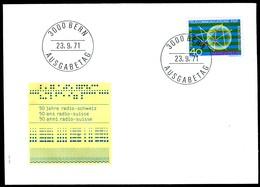 04616) Schweiz - Mi 954 - FDC - 40c          50 Jahre Radio Schweiz - FDC