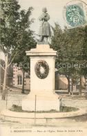 13491093 Pierrefitte-sur-Seine Place De L'Eglise Statue De Jeanne D'Arc Pierrefi - France