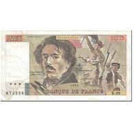 France, 100 Francs, 100 F 1978-1995 ''Delacroix'', 1980, Undated (1980), TB - 1962-1997 ''Francs''