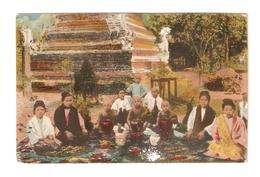 CT--02868-- LA BIRMANIA PITTORESCA-VISITA DEI PARENTI AI PICCOLI BONZI-VIAGGIATA 1925 - Asia