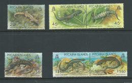 Pitcairn Islands 1993 Lizards Set Of 6 - 2 Singles & 2 Pairs MNH - Pitcairn Islands