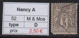 Nancy A - Meurthe Et Moselle - Type Sage - Marcofilia (Sellos Separados)