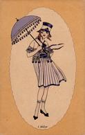 ART DÉCO : JEUNE FILLE De BELLE ÉPOQUE / YOUNG GIRL Of BELLE EPOQUE - ILLUSTRATION SIGNÉE / SIGNED : E. WEBER (aa876) - Künstlerkarten