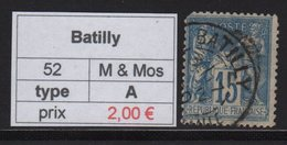 Batilly - Meurthe Et Moselle - Type Sage - Marcofilia (Sellos Separados)