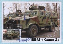 UKRAINE / Maidan Post / Maxi Card / Military Equipment . Antiterrorist Operation. Auto. BBM Kozak  2016 - Ukraine