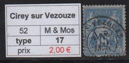 Cirey Sur Vezouze - Meurthe Et Moselle - Type Sage - Marcofilia (Sellos Separados)