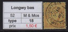Longwy Bas - Meurthe Et Moselle - Type Sage - Marcofilia (Sellos Separados)