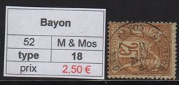Bayon - Meurthe Et Moselle - Type Sage - Marcofilia (Sellos Separados)
