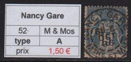 Nancy Gare - Meurthe Et Moselle - Type Sage - Marcofilia (Sellos Separados)