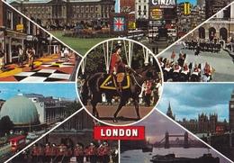 Great Britain London Various Views Used Postcard London W1 1980 Postmark Good Condition - London