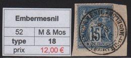 Embermesnil - Meurthe Et Moselle - Type Sage - Marcofilia (Sellos Separados)