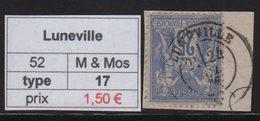 Luneville - Meurthe Et Moselle - Type Sage - Marcofilia (Sellos Separados)
