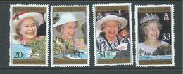 Pitcairn Islands 1996 QEII 70th Birthday Set 4 MNH - Stamps
