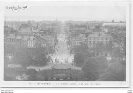 LE HAVRE - Le Jardin Public Et La Rue De Paris - Très Bon état - Le Havre