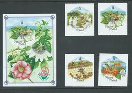 Pitcairn Islands 1999 Honey Bees Self Adhesive Set 4 & Miniature Sheet MNH - Stamps