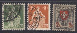 HELVETIA - 1937 - Servizio - Lotto Di 3 Valori Usati: Yvert 116, 117 E 124. - Servizio
