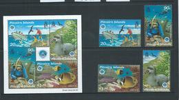 Pitcairn Islands 1998 International Ocean Year Set 4 & Miniature Sheet MNH - Stamps