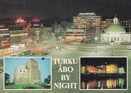 Finland Turku Abo By Night Postcard Unused Good Condition - Finland