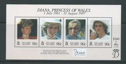 Pitcairn Islands 1998 Princess Diana Memorial Miniature Sheet With Surtax  MNH - Stamps