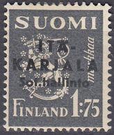 FINLANDIA OCC. CARELIA ORIENTALE - 1941 - Yvert 2 MH. - Finlandia